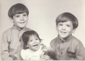 That's me on the right. Like the Nehru jackets?