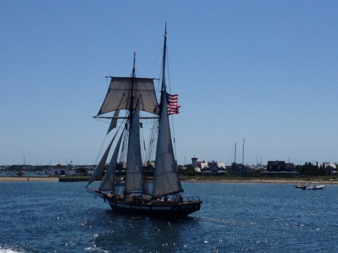 We spotted this lovely old ship from the ferry as we were leaving the island.