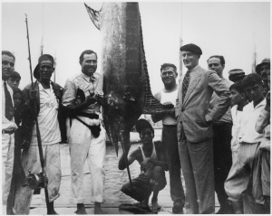 Ernest_Hemingway_and_Others_with_Marlin_July,_1934_-_NARA_-_192675