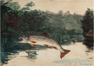 Winslow_Homer_-_Leaping_Trout